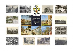 Der neue Kalender 2017 ist da. Es werden 12 Ansichtskarten aus unterschiedlichen Zeiten Eller´s gezeigt. Der Kalender ist in DIN A 3 für 8€ und in DIN A 4 für 6€ im Forum Heidelberger Str. 30b Sa. und So. von 14:00 bis 16:00 erhältlich.